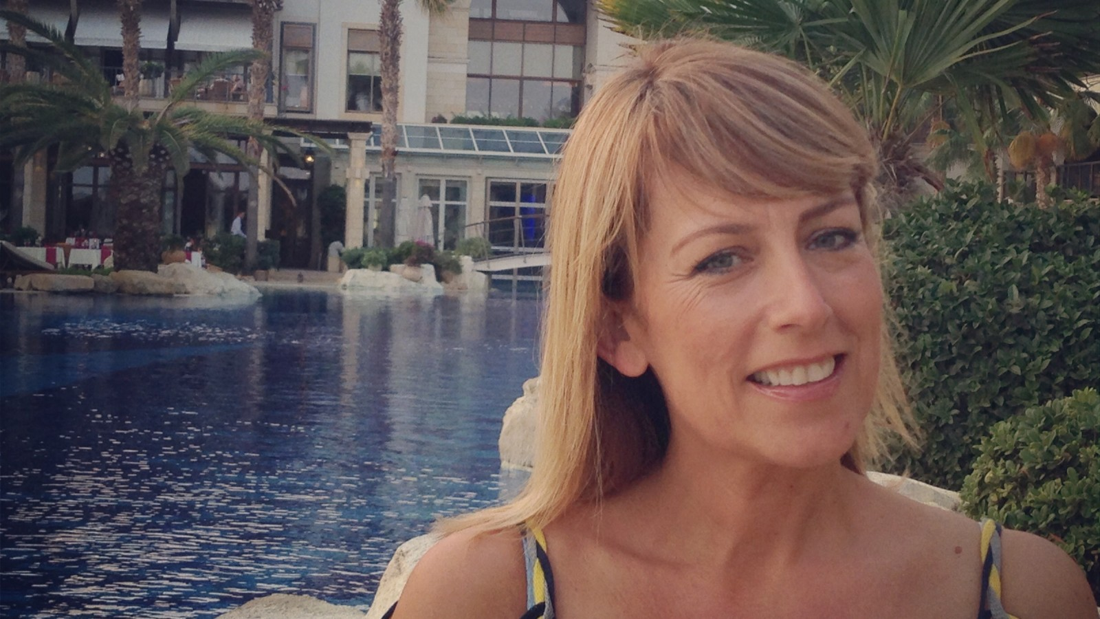 Fay Ripley Visits Columbia Beach Resort in Cyprus