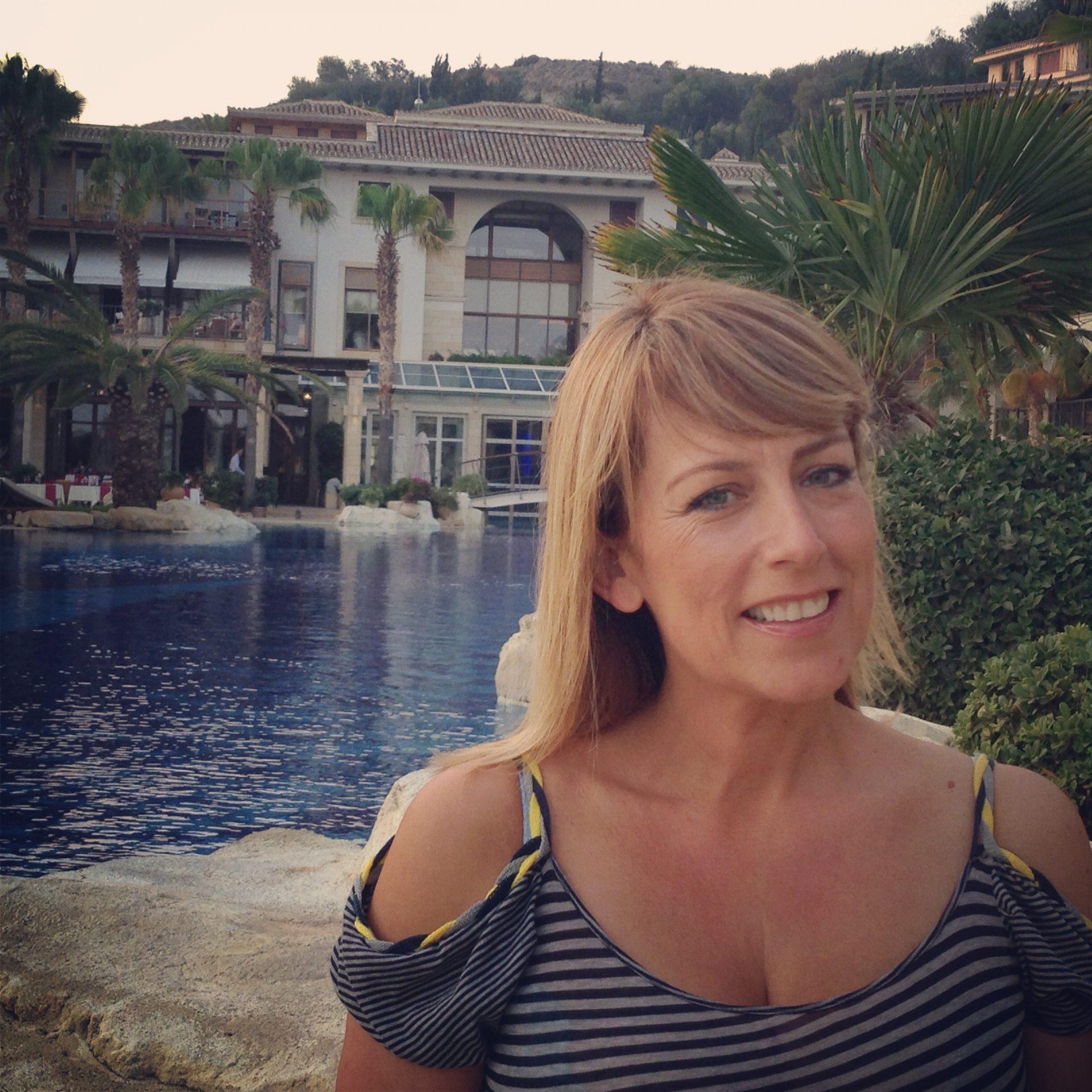 Fay Ripley Visits Columbia Beach Resort in Cyprus