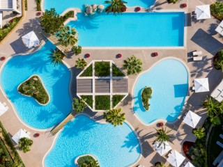 Porto Sani Pool Aerial View