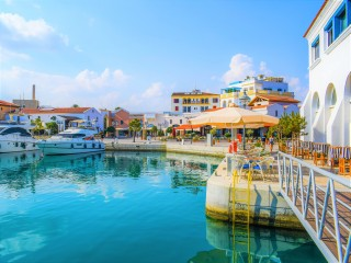 The pretty port in Limassol is filled with designer shops