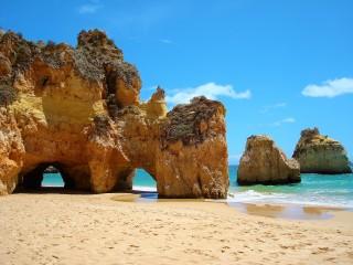 Fascinating rock formation embellish the Algarve's coastline