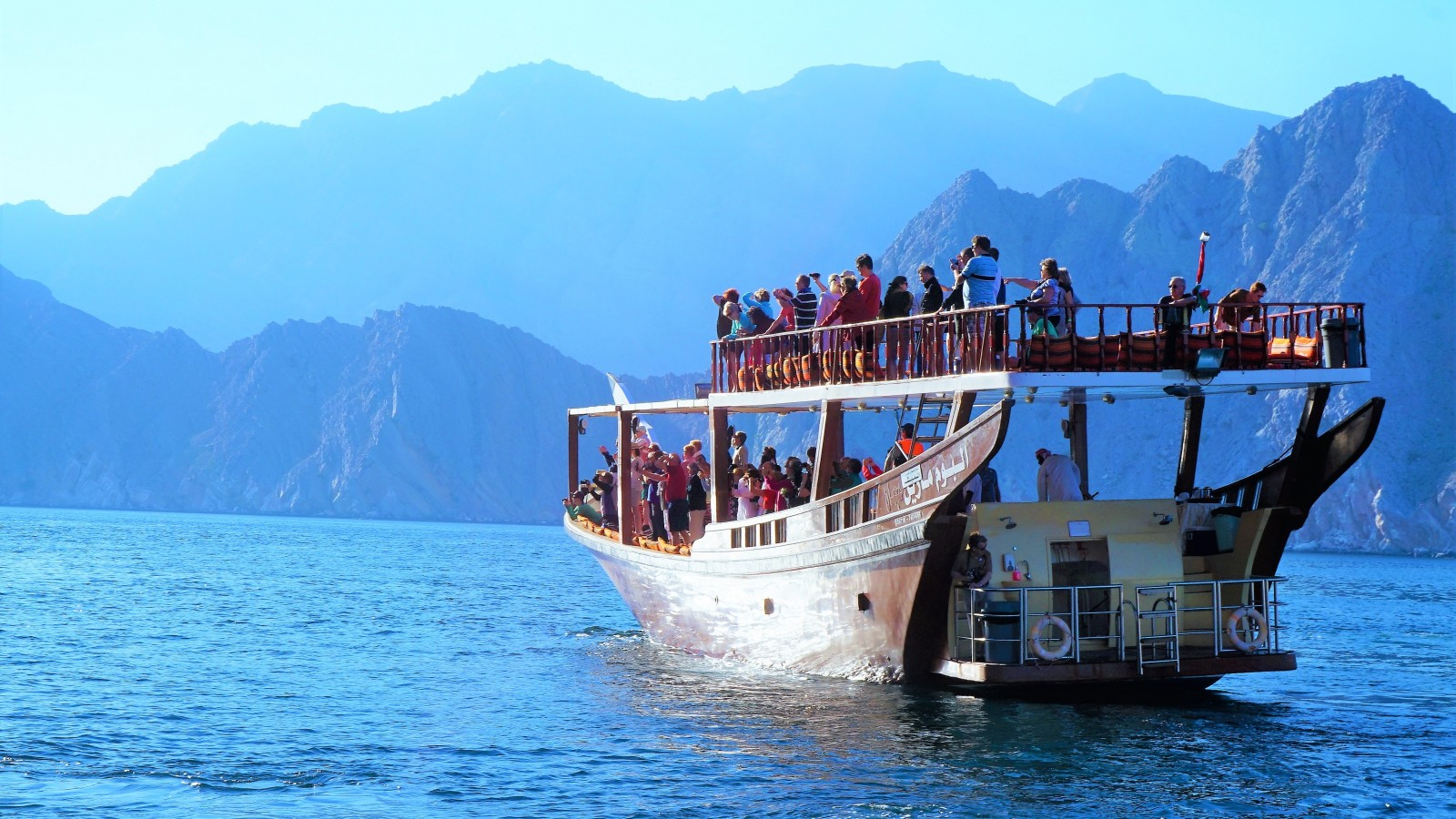 Dolphins can be seen frollicking in the Khasab fjords (khors) on the edge of the Musandam Peninsula
