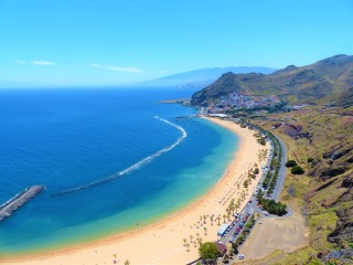 Playa de Las Teresitas in Tenerife is a long golden beach