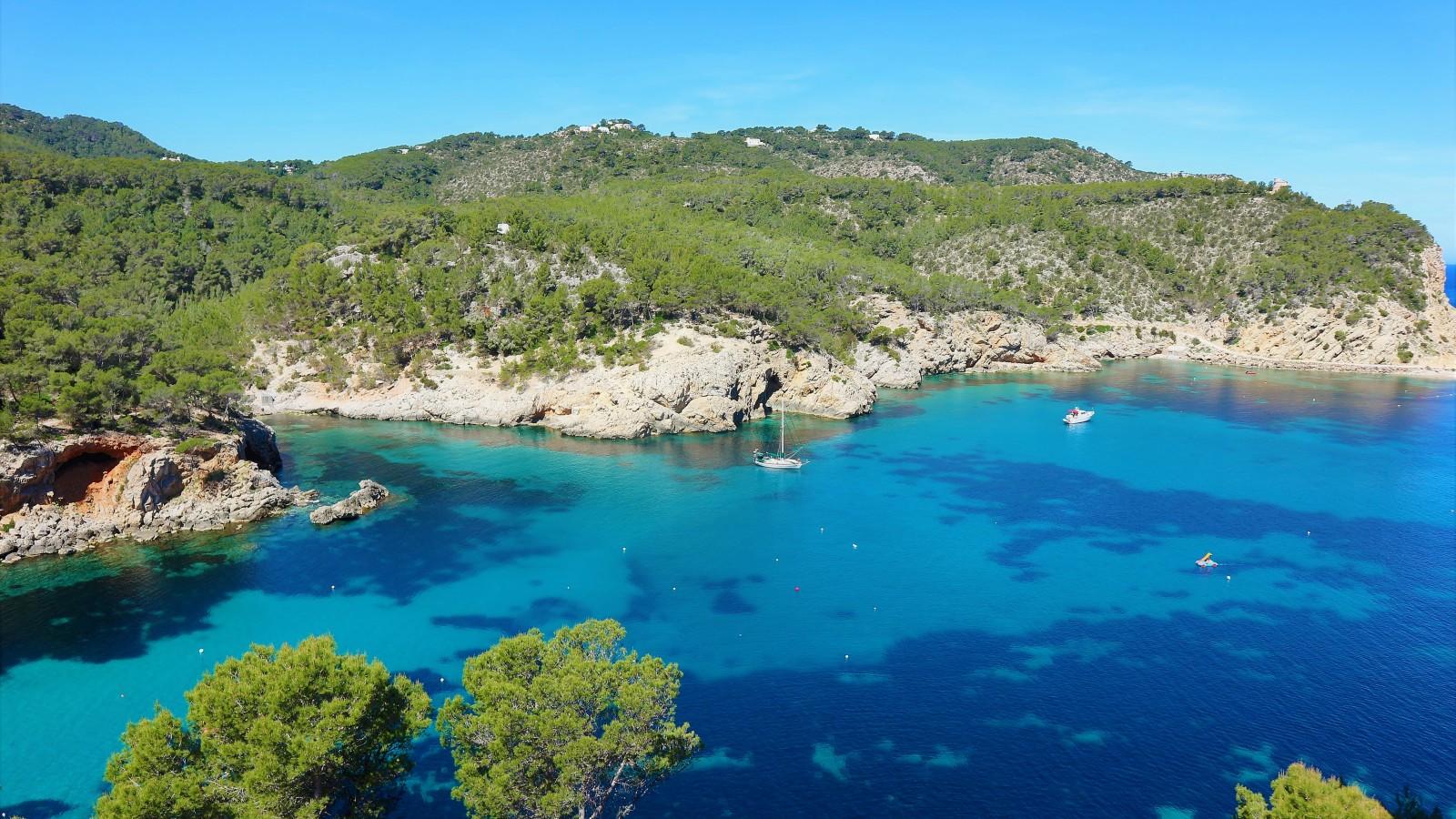 The Sant Miquel coastline in incredible Ibiza