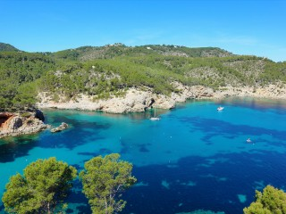 The Sant Miquel coastline in incredible Ibiza