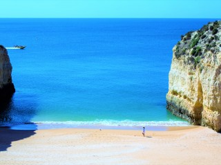 Nossa Senhora da Rocha Beach in Porches is famous for its natural beauty