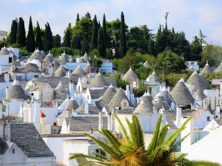 Alberobello in Puglia is an UNESCO World Heritage Site