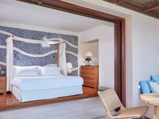 Bedroom of Island Luxury Suites Sea View Private Pool, Blue Palace
