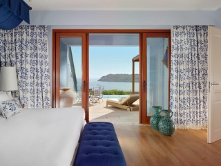 Bedroom of Two Bedroom Villa Sea View Private Heated Pool, Blue Palace