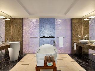 Junior Suite Frangipani Ocean View Bathroom Shangri-La La Touessrok