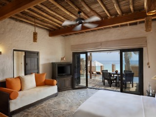 Pool Villa Suite Beach Front at the Six Senses Zighy Bay