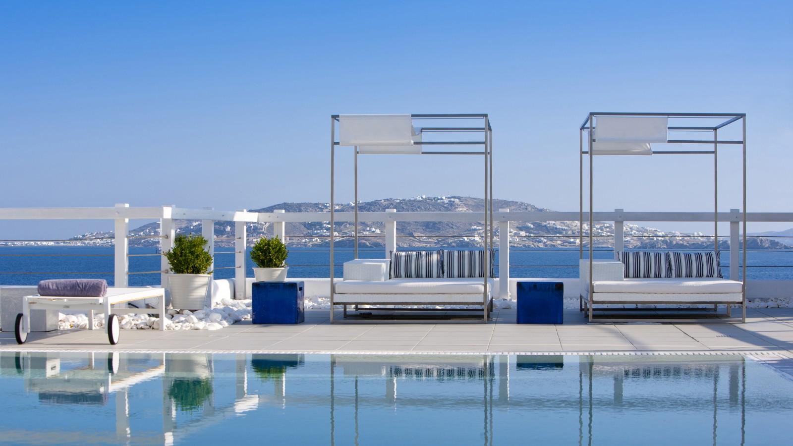 Poolside at Grace Mykonos