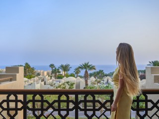 Balcony of the Two Bedroom Residential Suite Sea View at the Four Seasons Sharm el Sheikh