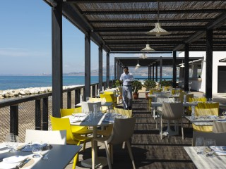 Amare beach restaurant at the Verdura Resort
