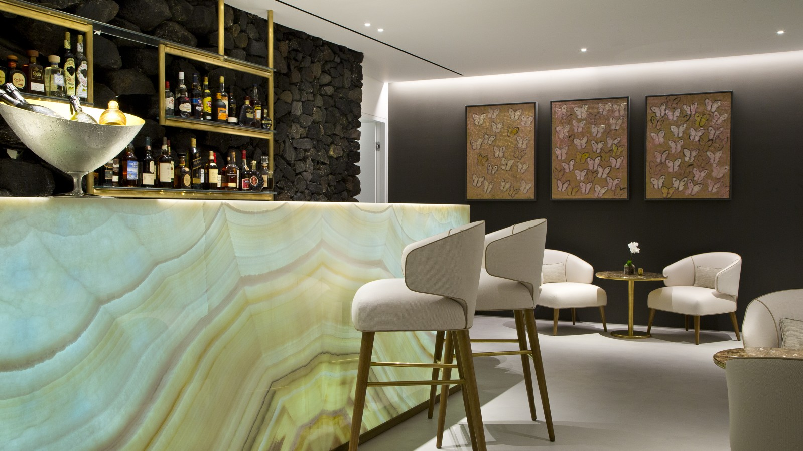 The Champagne Lounge at Grace Santorini