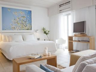 Grace Suite bedroom at Grace Mykonos