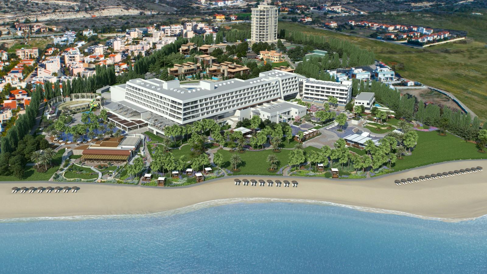 Parklane Hotel aerial shot