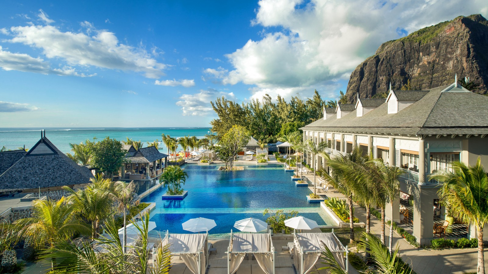 St Regis Mauritius_Manor House from the Beach