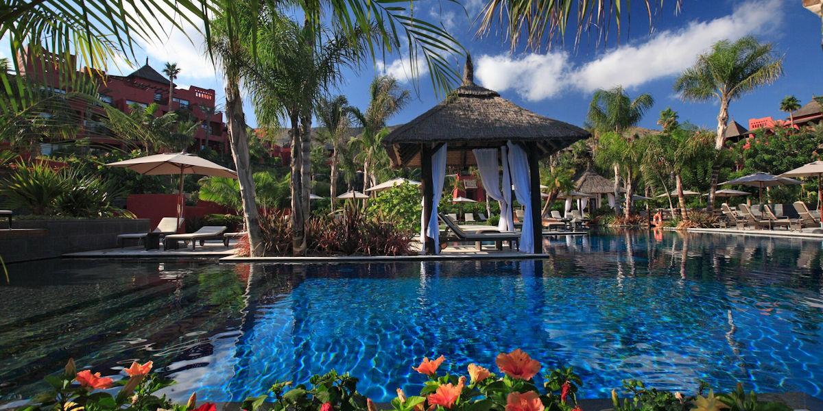 Asia Gardens Pool Cabana View