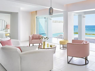 LUX ME White Palace Villa White Seafront with Private Pool Direct Beach Access Sea View